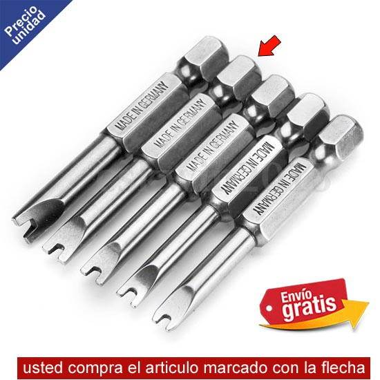 .PUNTA SPANNER MODELO U7 VASTAGO LARGO 50mm MADE IN GERMAN